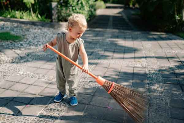 Sweeping is essential for healthy activities at home